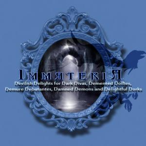 New Blue Immateria Logo  Raven